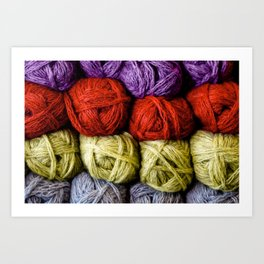 Balls of Yarn Art Print
