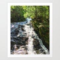Thundering Brook Falls Art Print