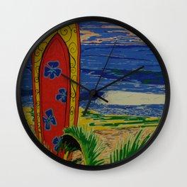 Journée Surf Wall Clock
