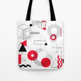 Constructivism Red Geometric Lines Tote Bag