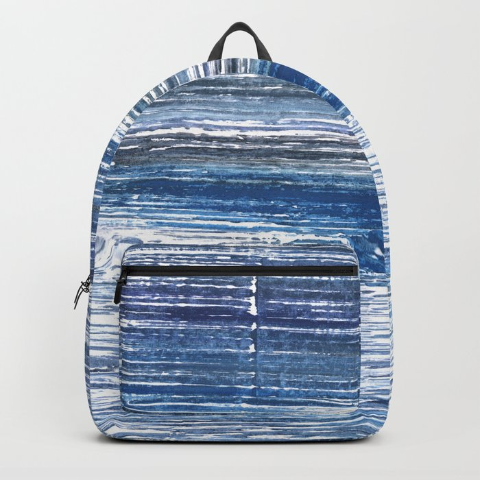Metallic blue abstract watercolor Rucksack