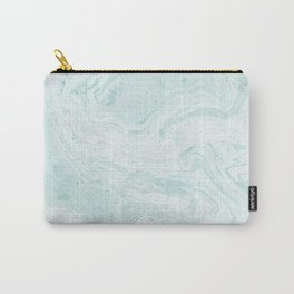 Seaforam Marble Print Carry-All Pouch
