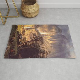 Cho Looke The Yosemite Fall 1864 By Albert Bierstadt | Reproduction Painting Rug