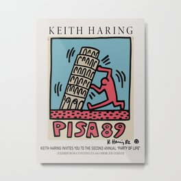 Pisa - Keith Art, Exhibition Poster, Japan Vintage Print Metal Print