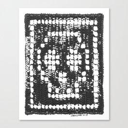 Crochet Impressions: SKULL Canvas Print