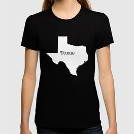 Cartography of the famous State of Texas T-shirt