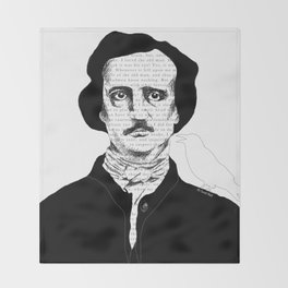 Persistence of Poe Throw Blanket