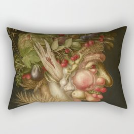 Summer by Giuseppe Arcimboldo Rectangular Pillow
