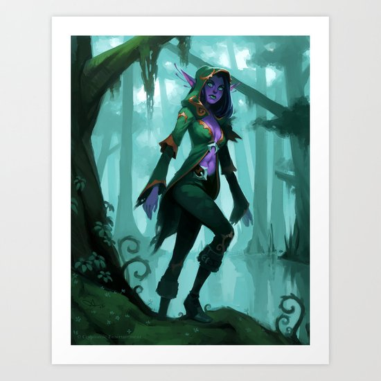 Elf Warlock, Level 1 Art Print