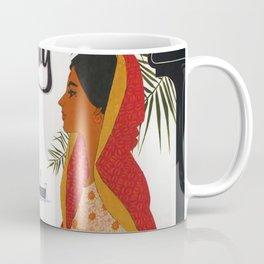 Bombay Vintage Travel Poster Coffee Mug