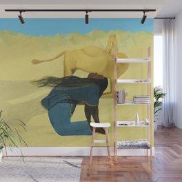 Camel Pose Wall Mural