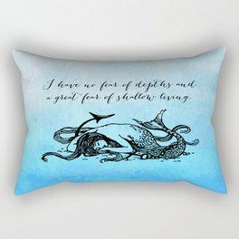 Anais Nin - Great Fear of Shallow Living Rectangular Pillow