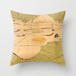 Map Of Delaware Bay 1770 Throw Pillow