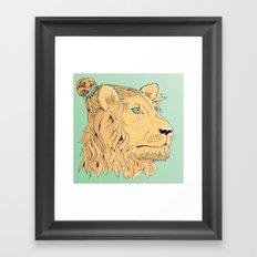 Lion Bun Framed Art Print