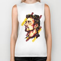 arya stark Biker Tanks featuring Tony Stark by AlysIndigo