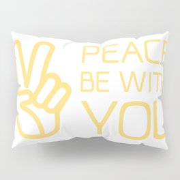Christian,Bible Quote,peace be with you Pillow Sham