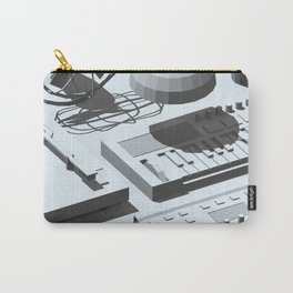 Low Poly Studio Objects 3D Illustration Grey Carry-All Pouch