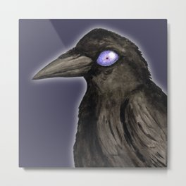The purple witch raven Metal Print