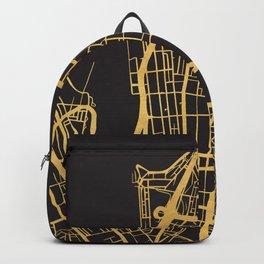 SYDNEY AUSTRALIA GOLD ON BLACK CITY MAP Backpack