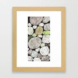 Classical Stones Pattern in High Format Framed Art Print