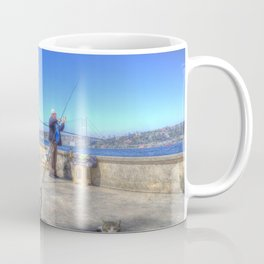 Fishermen And Cats Istanbul Coffee Mug