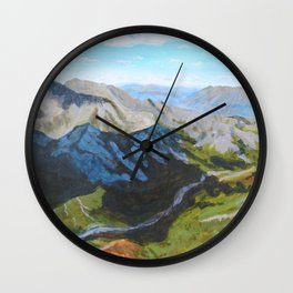 Cloud Cover Denali National Park Wall Clock