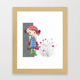 little gardener Framed Art Print