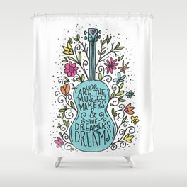 music makers Shower Curtain