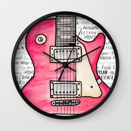 Music for the Soul & Spirit - Red Series Wall Clock