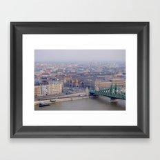 Budapest from Mount Gellert Framed Art Print