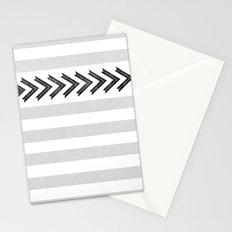 ARROW STRIPE {GRAY} Stationery Cards