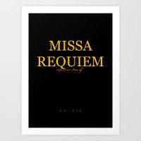 Missa Requiem Art Print