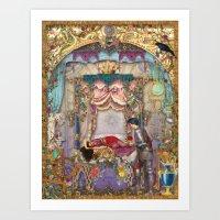 sleeping beauty Art Prints featuring Sleeping Beauty by Aimee Stewart