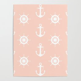 AFE Anchor and Helm Wheel Poster