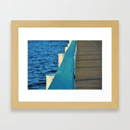 Bokeelia's Blue Board Framed Art Print