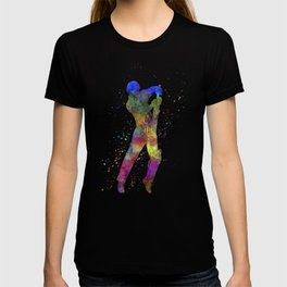 Cricket player batsman silhouette 05 T-shirt