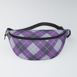 Purple Argyle Fanny Pack