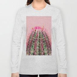Sweet Pink Cactus Long Sleeve T-shirt