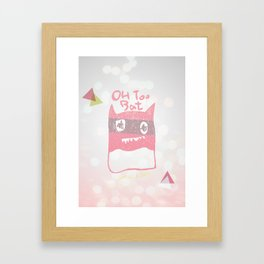Oh Too Bat Framed Art Print