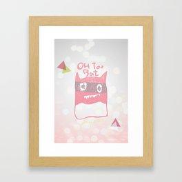 Oh Too Bat Framed Art Print
