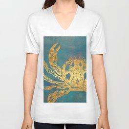 Deep Sea Life Crab Unisex V-Neck
