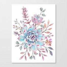succulent watercolor 13 Canvas Print