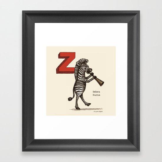 Animals & Instruments ABCs – Z Framed Art Print