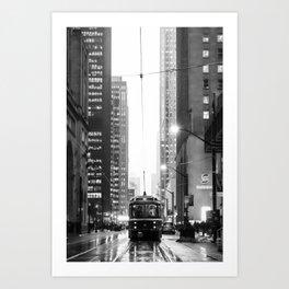 Memories of a streetcar street photography Toronto Downtown Art Print