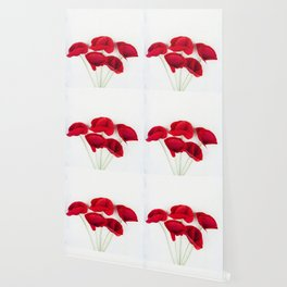 A Bunch Of Red Poppies Wallpaper