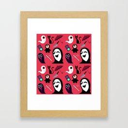 Yume Nikki Pattern Framed Art Print