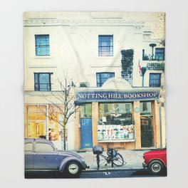 Notting Hill travel movie art Throw Blanket