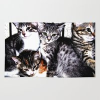 kittens Area & Throw Rugs featuring Adorable Kittens by Christy Leigh