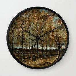 Vincent Van Gogh Poplars Near Nuenen Wall Clock