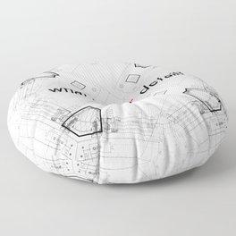 Detailed architectural node_1 Floor Pillow